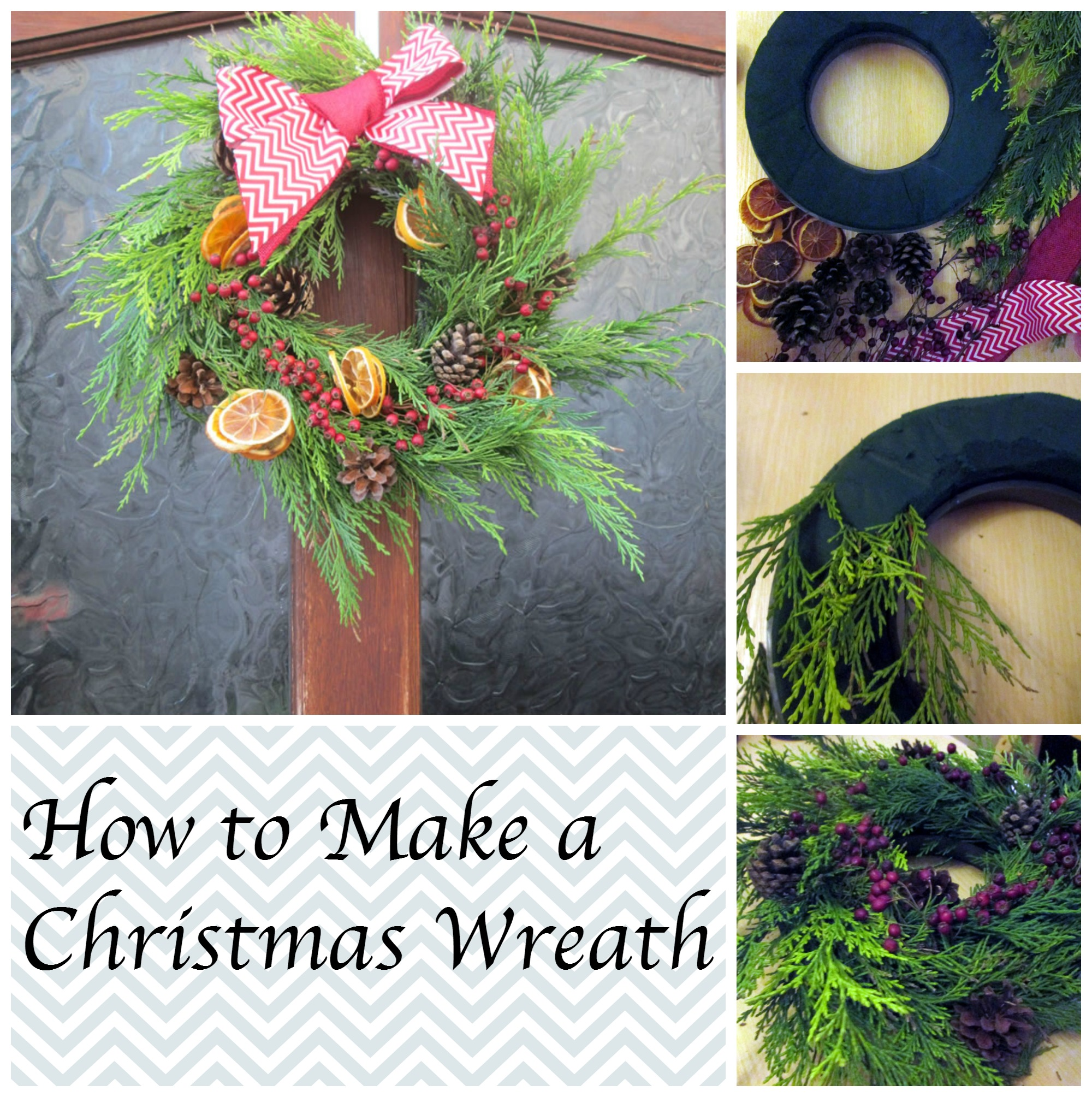 how to make a christmas wreath tea and a sewing machine