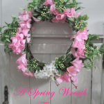 spring wreath tutorial burlap and lace tied wreath