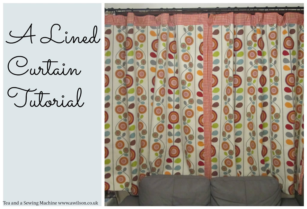 Lined Curtains Tutorial
