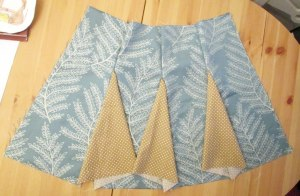 skirt with godets tutorial step 3b