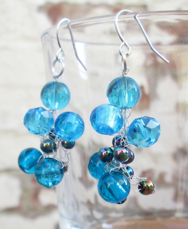 Crocheted Wire Earrings -
