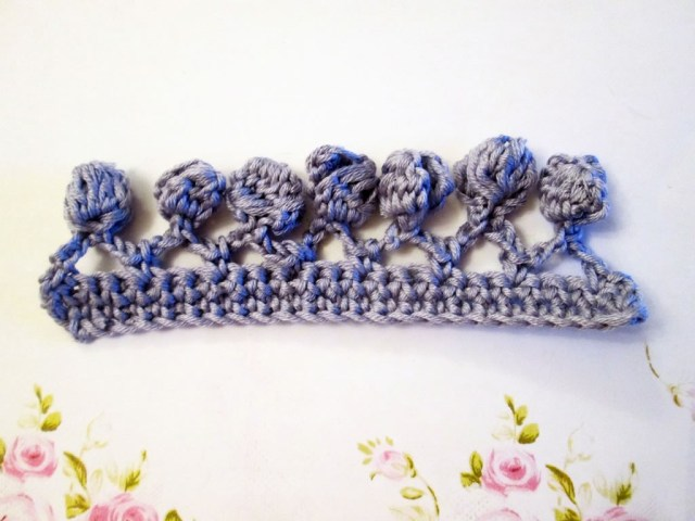 how to crochet bobble edging