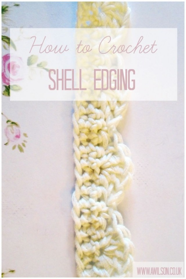 how to crochet shell edging scallop scalloped