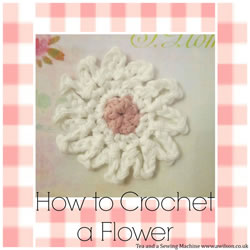 collage crocheted flower