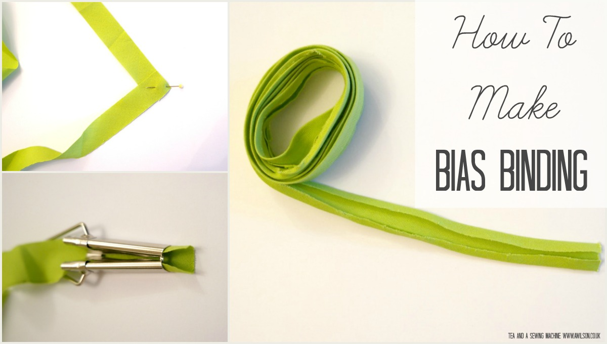 how to make bias binding with or without a gadget diy