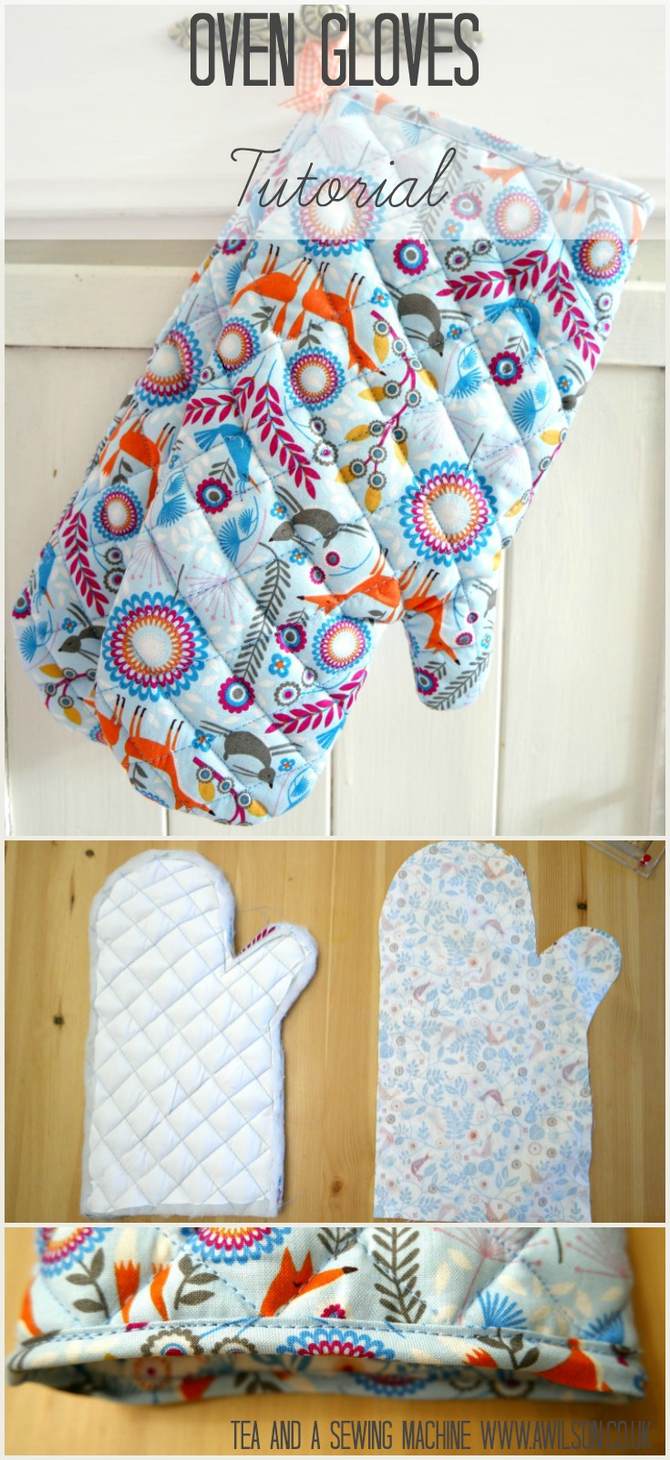 how to make oven gloves tutorial