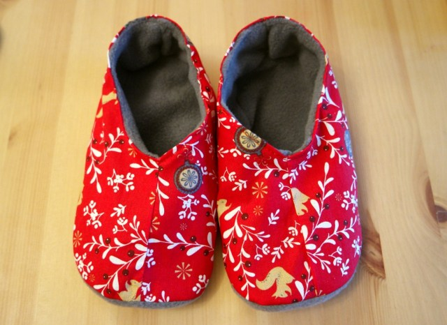 how to sew slippers