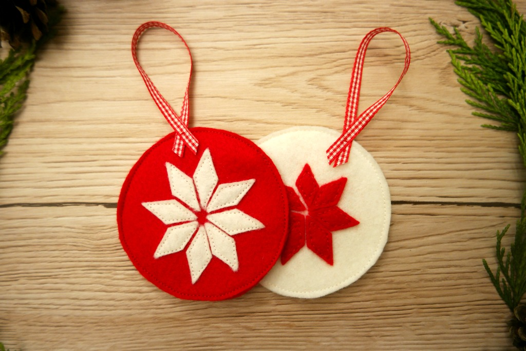 diy scandinavian style christmas decorations felt bauble star