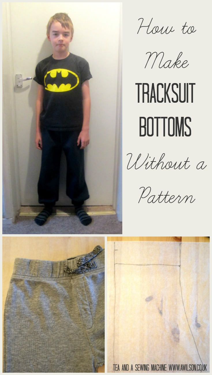 how to make tracksuit bottoms without a pattern