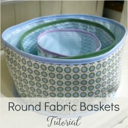 sew fabric storage boxes
