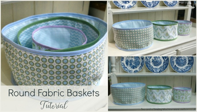 How to Sew Round Fabric Baskets