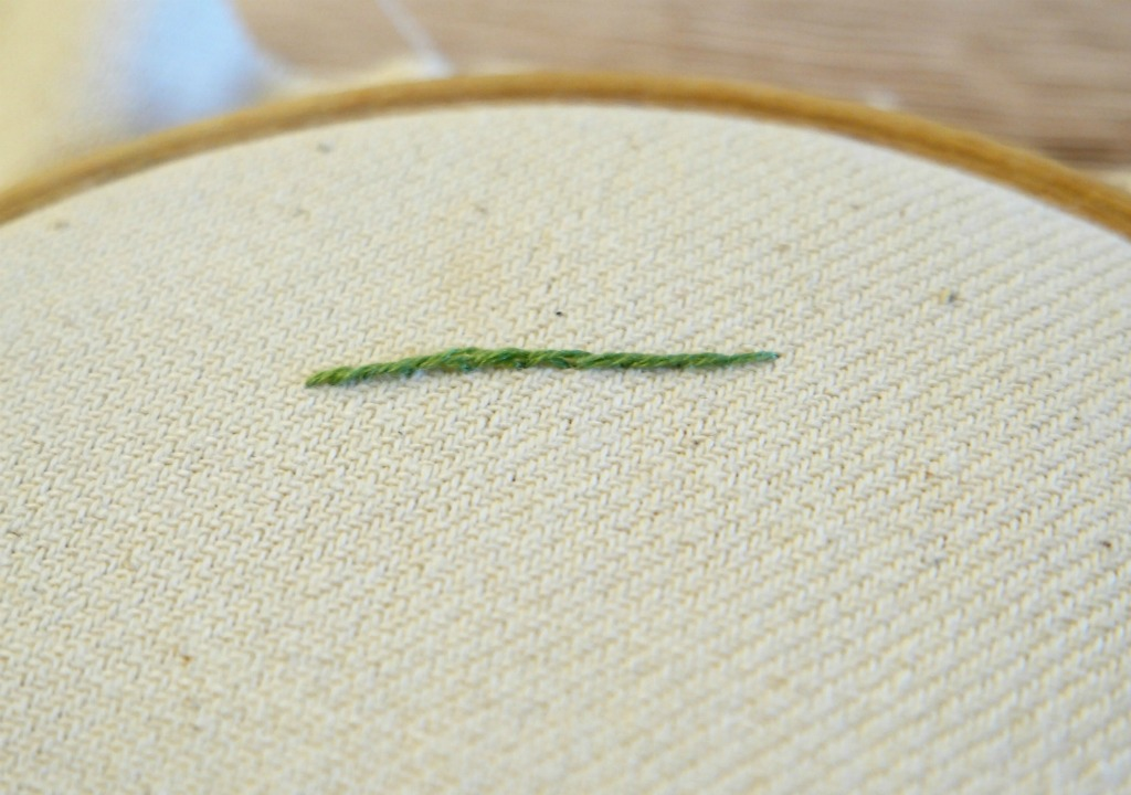 how to sew stem stitch hand embroidery