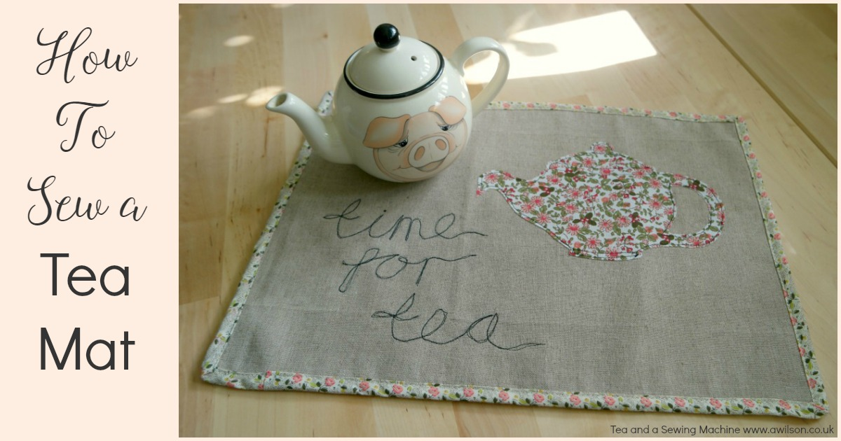 how to sew a tea mat tea tray liner