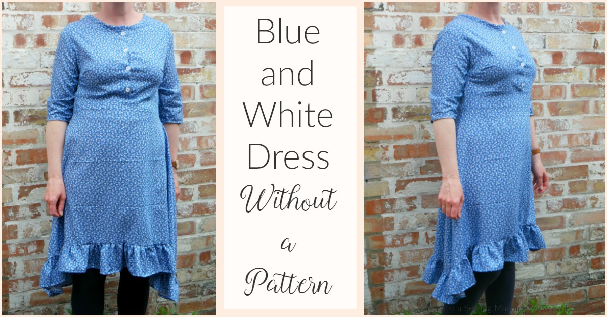 blue and white dress without a pattern