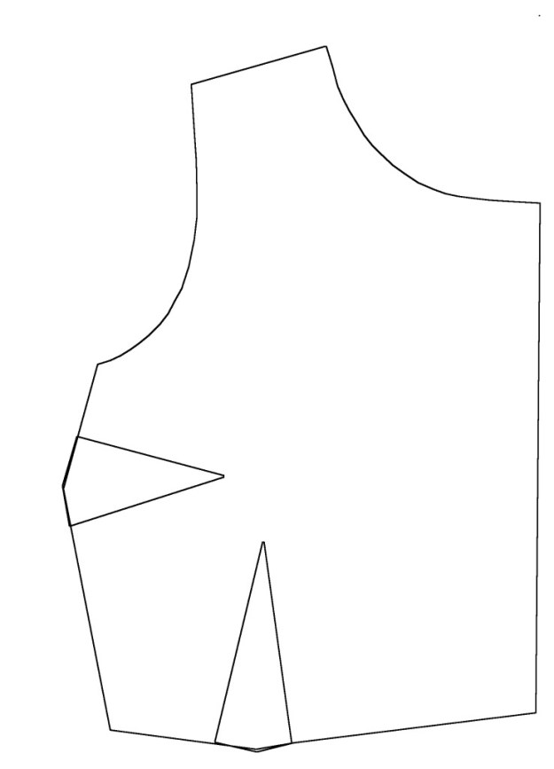 how to draft a bodice pattern block sloper piece