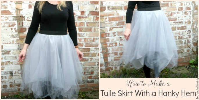 Easy DIY Tulle Skirt With a Hanky Hem