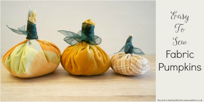 Easy To Sew Pumpkins Tutorial