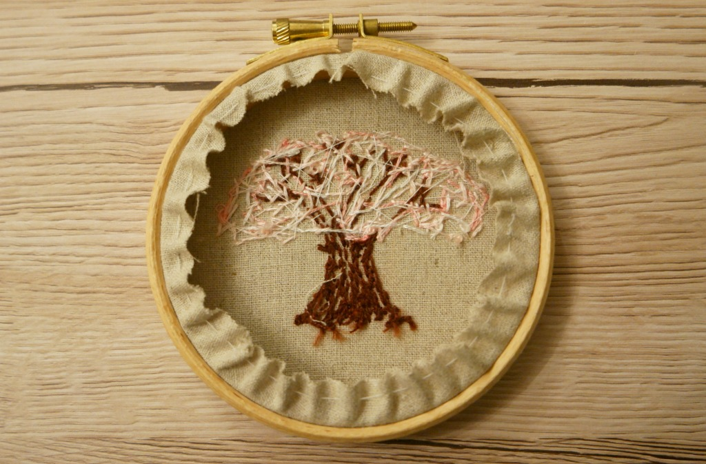 cherry blossom embroidery tutorial hoop art french knots