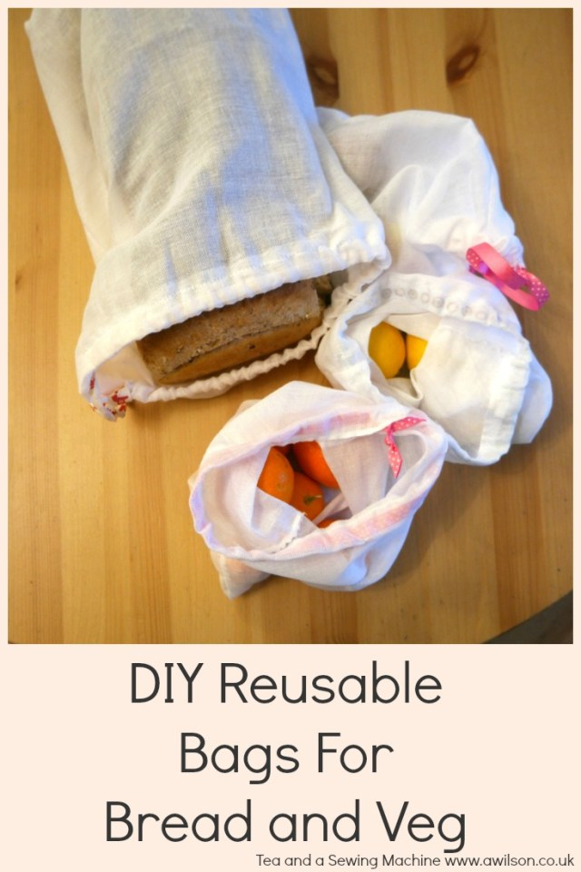 diy reusable bags for bread and veg