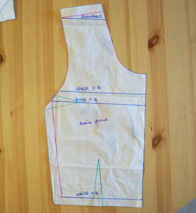 vintage style sundress without a pattern cherry blossom dress sewalong drafting bodice