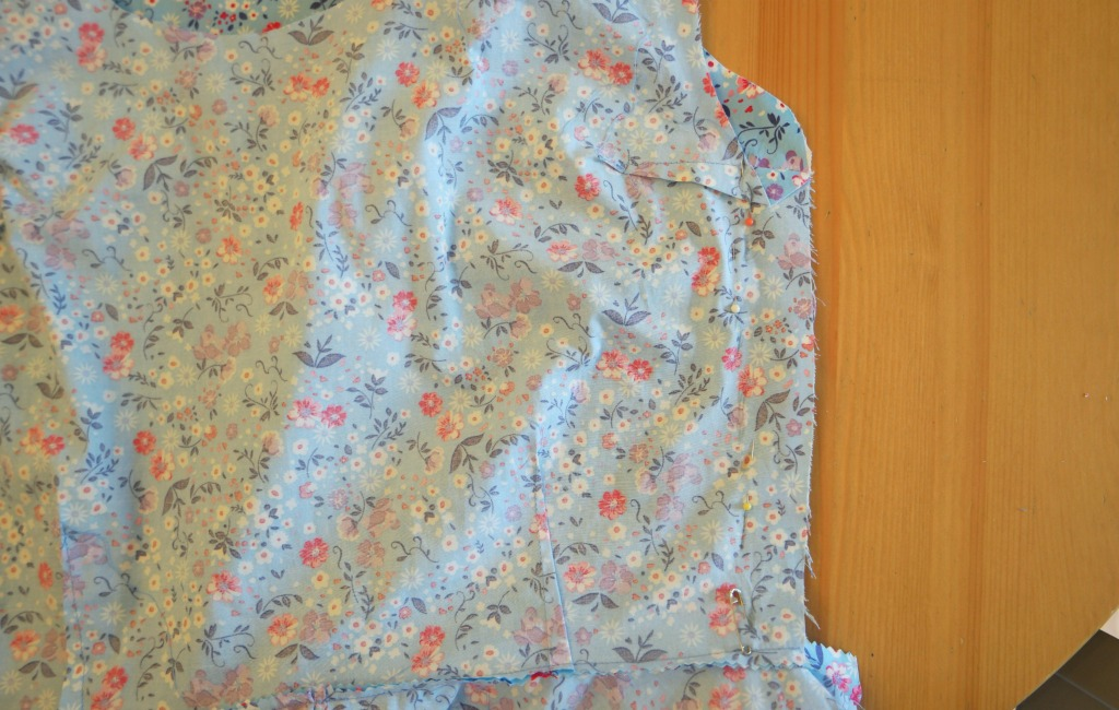 cherry blossom dress sewalong sewing the shoulders and side seams