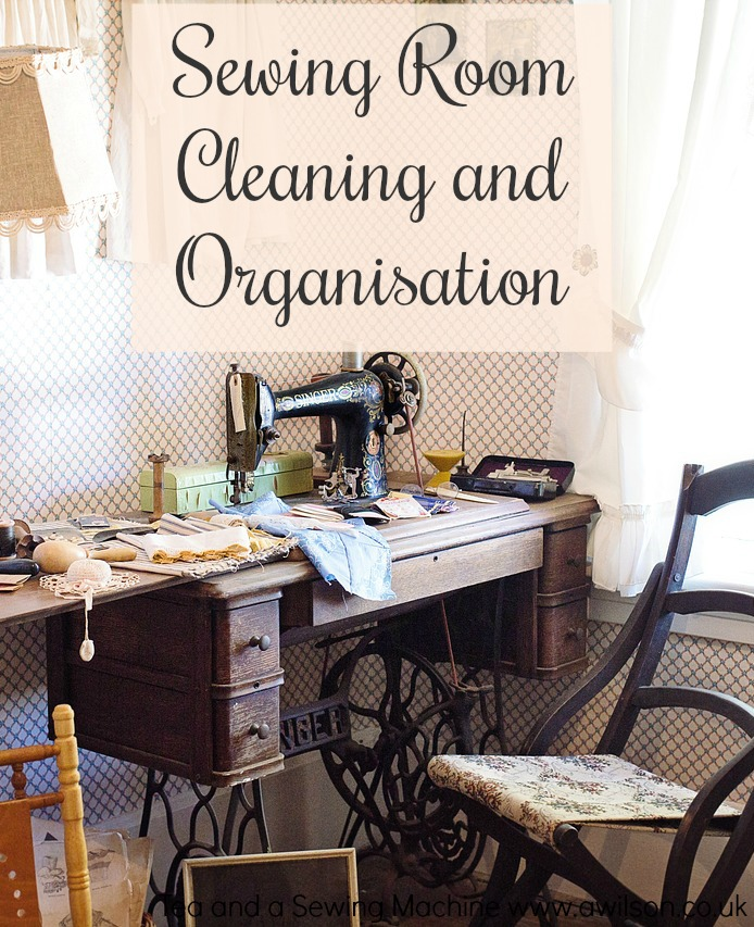 sewing room cleaning and organising