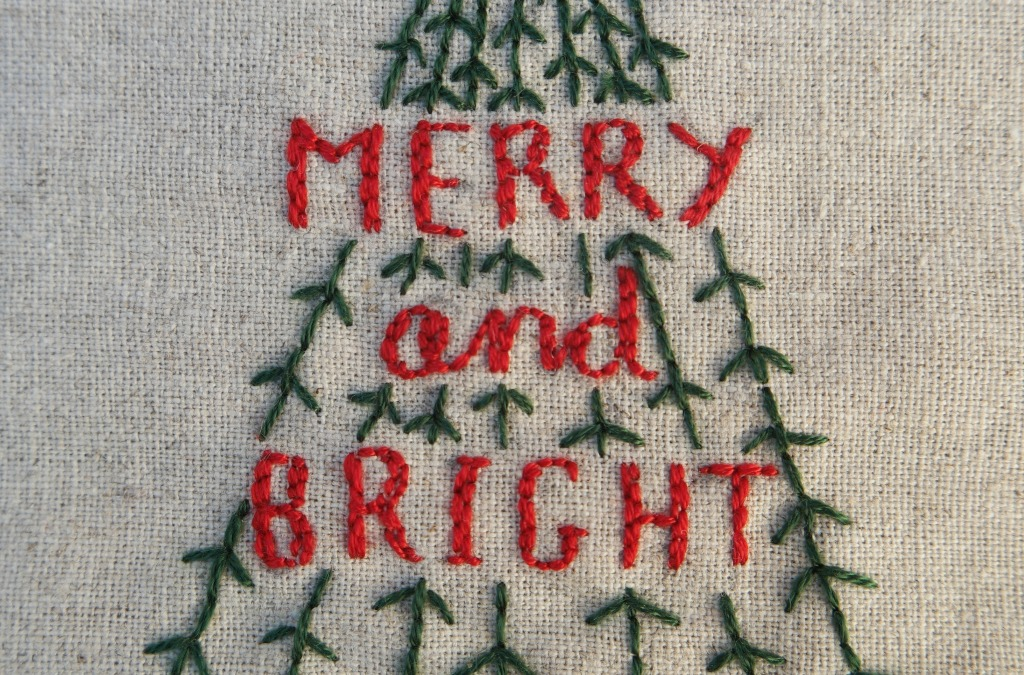Christmas Embroidery Project With A Free Pattern