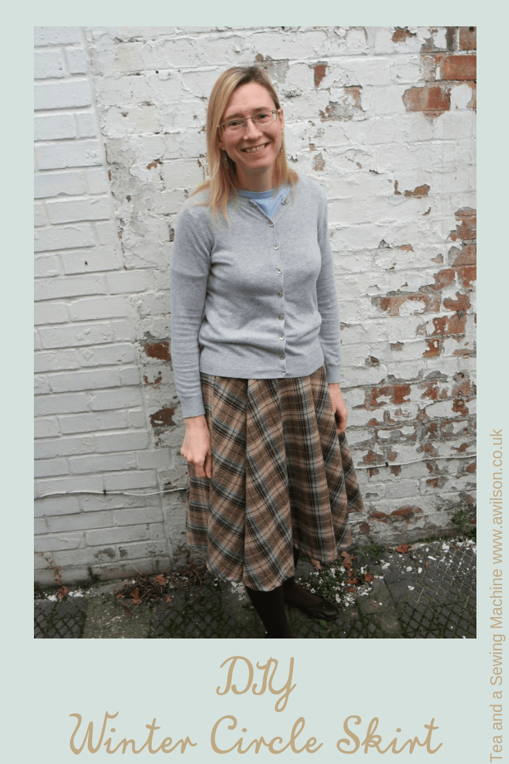 diy winter circle skirt tutorial
