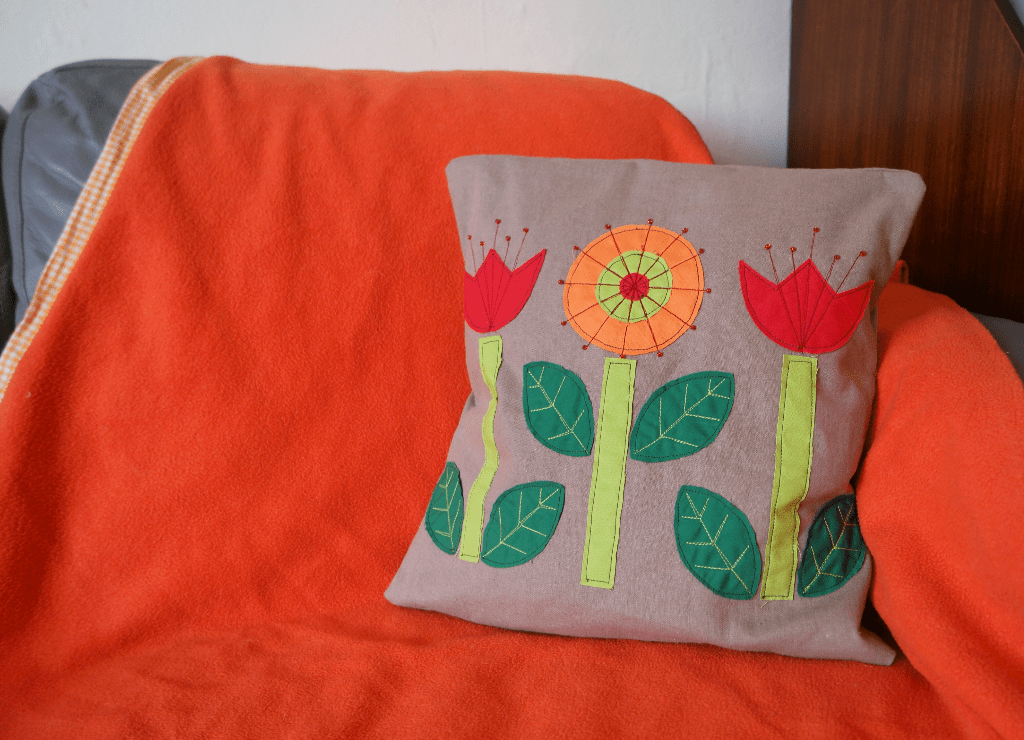 scandi flowers cushion cover