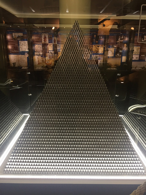 The Money Museum in Vilnius, Lithuania. Coin Pyramid