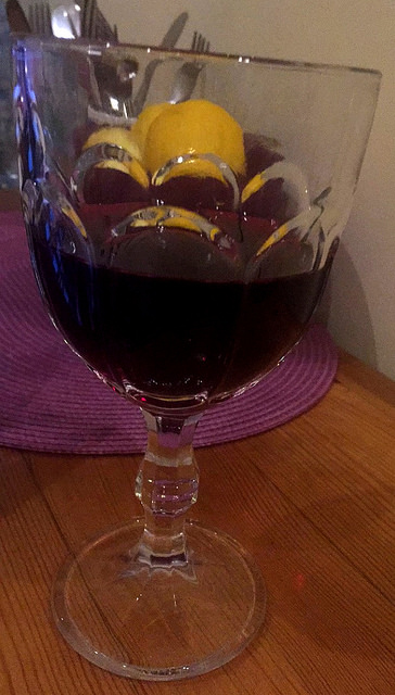 Lithuanian wine made with blackcurrants