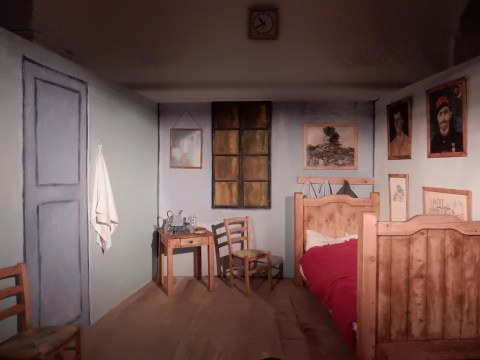 Bedroom at Arles brought to life at Van Gogh Alive exhibition in Wroclaw, Poland