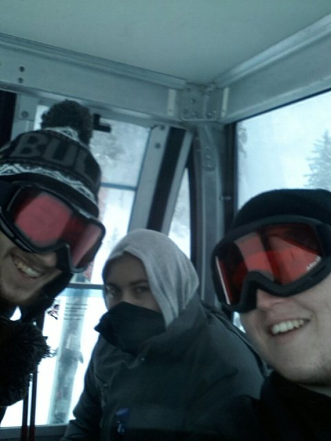 With friends in a Gondola in Austria