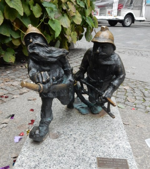 The firemen dwarves/gnomes in Wroclaw, Poland