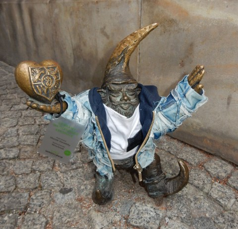 WrocLover dwarf/gnome in Wroclaw, Poland
