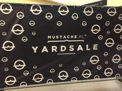 Yardsale market put on by mustache.pl in Wroclaw, Poland