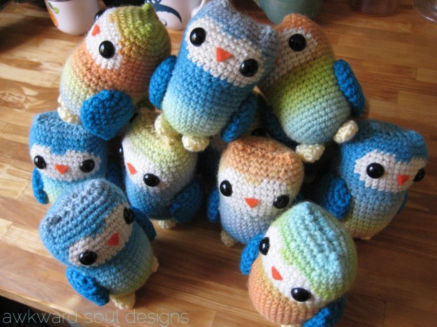 1 dozen amigurumi owls - awkwardsouldesigns (8)