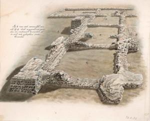 foto3 Forum Hadriani, de opgravingen. Badhuis Reuvens