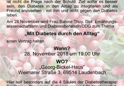 Mit Diabetes durch den Alltag