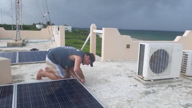 preparing solar panels hurricane earl
