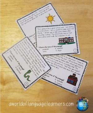 tone task cards