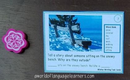winter writing task card