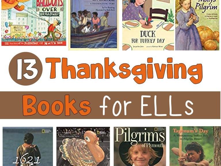 Thanksgiving books for ELLs