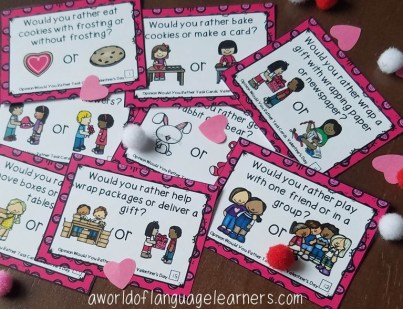 Valentine's Day Opinion Task Cards