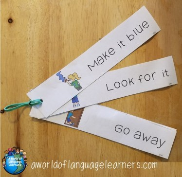 illustrated sight word strips