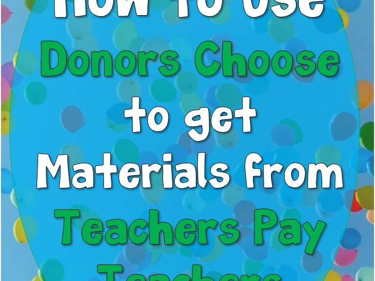 How to Use Donors Choose to Get Materials from TPT