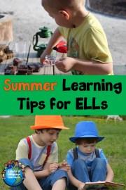 summer learning tips for ELLs