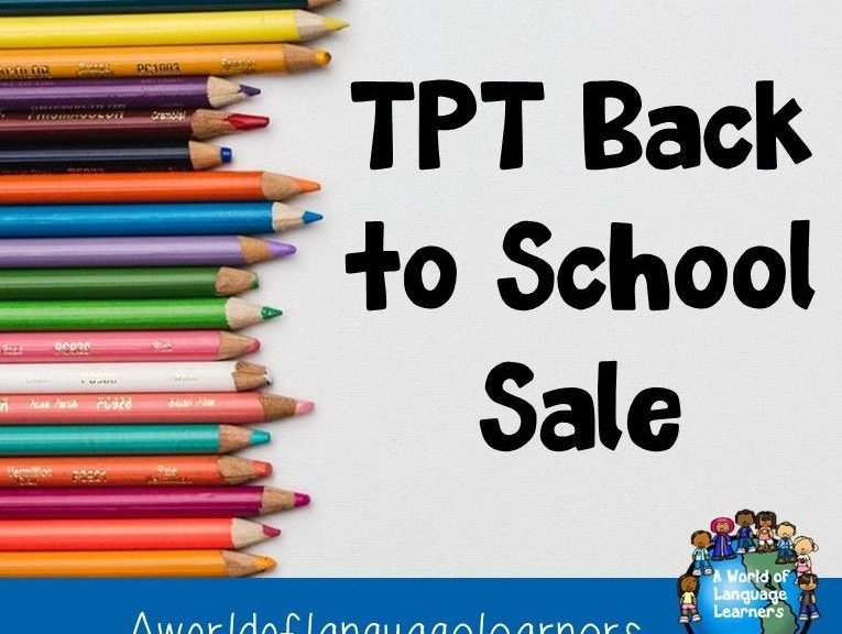 TPT Back to School Sale