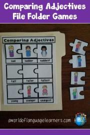 Comparing Adjectives File Folder Games