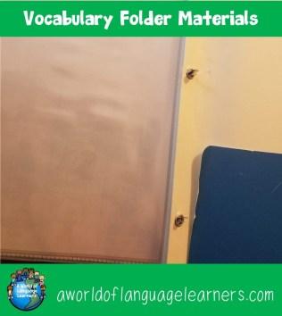 Vocabulary Folder Materials